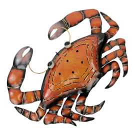 Metalen oranje krab  37x29x4 cm