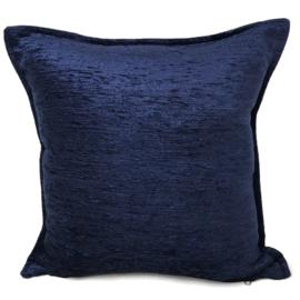 Donkerblauw kussen ± 45x45cm