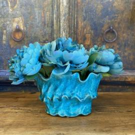 Vaas keramiek blauw 18 cm PTMD