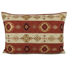 Brick oranje kussen - Aztec stripes ± 50x70cm