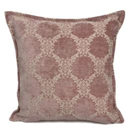 Vintage roze kussen ± 45x45cm - Barok ornament