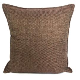 Esperanza Deseo ® kussen - Linnen meubelstof met grote lus - Brons met koraal ± 45x45cm
