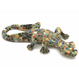 Salamander mozaïek geel 20cm lang x 9cm breed en 2,5cm hoog