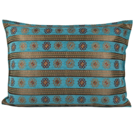 Turquoise kussen - Peru stripes ± 50x70cm