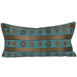 Turquoise kussen - Peru stripes ± 30x60cm