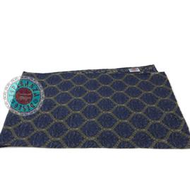 Honingraat donkerblauw tafelloper ± 45x140cm