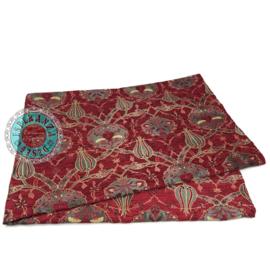 Flowers rood woonkleed/tafelkleed 140x200