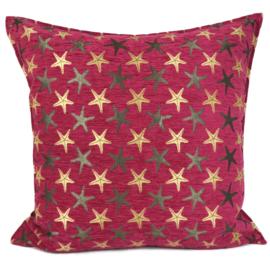 Hard roze kussen - Starfish ± 70x70cm