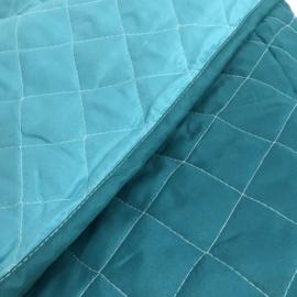 Bedsprei 220x240cm turquoise en zeegroen
