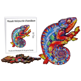 Houten puzzel - Mozaïek - Chamaleon - 181 stukjes!