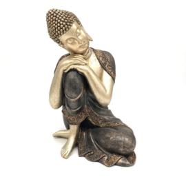 Boeddha brons/goud 30cm hoog