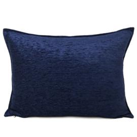 Donkerblauw kussen ± 50x70cm