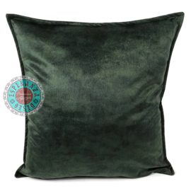 Velvet kussen donker groen (9008) ± 45x45cm