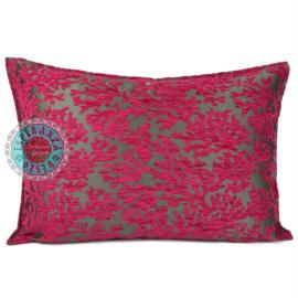 Hard roze kussen - koraal takken ± 50x70cm