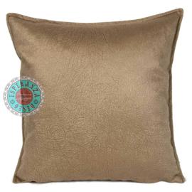 Velvet kussen Caramel bruin (1003) ± 45x45cm
