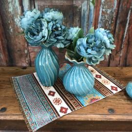 Turquoise placemat Aztec 49cm x 34cm