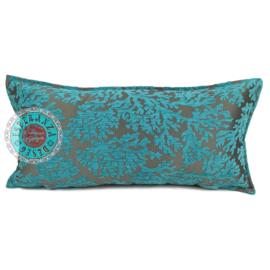 Turquoise kussen - Koraal takken ± 30x60cm