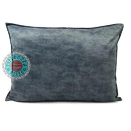 Velvet kussen grijs blauw (7021) ± 50x70cm