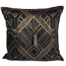 Esperanza Deseo ® kussen - Luxery zwart met goud ± 60x60cm