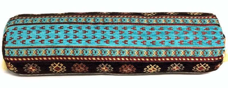 Peru turquoise kussenhoes kleine rol ± 50-55cm
