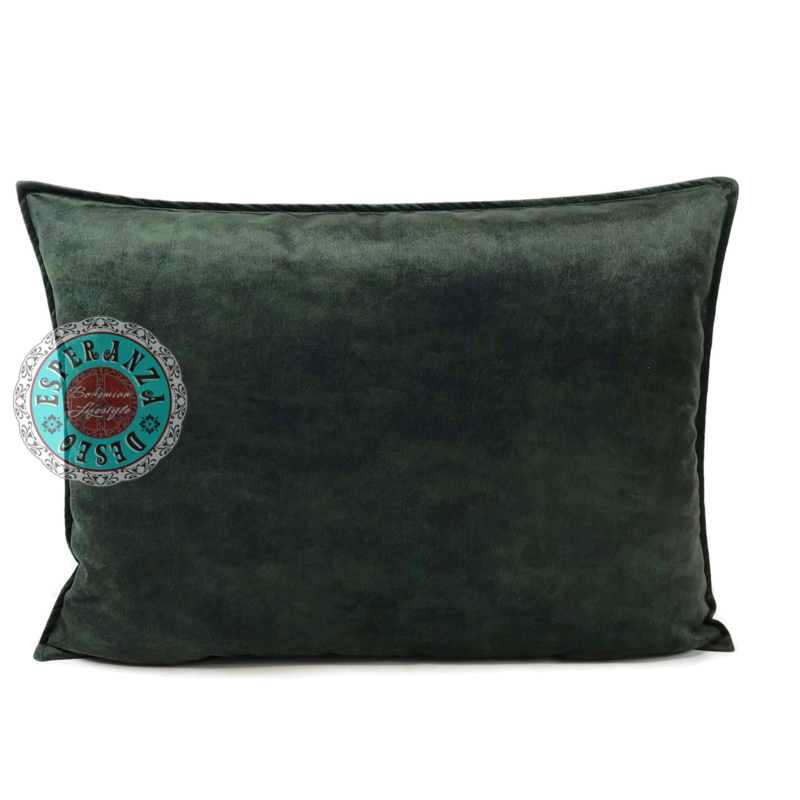 Velvet kussen donker groen (9008) ± 50x70cm