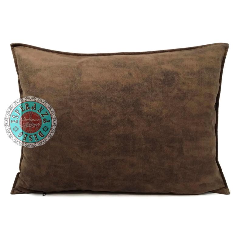 Velvet kussen mocha bruin (11004) ± 50x70cm