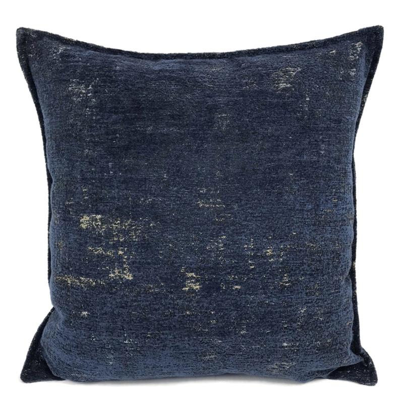 Sierkussen donkerblauw passend bij Kelim print ± 45x45cm