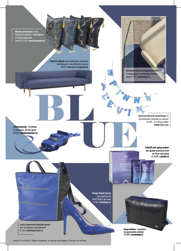 Shoppingspecial Perswereld thema BLUE