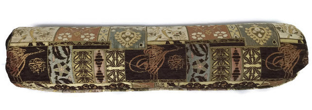Patchwork gold brown kussenhoes grote rol ± 75-80cm