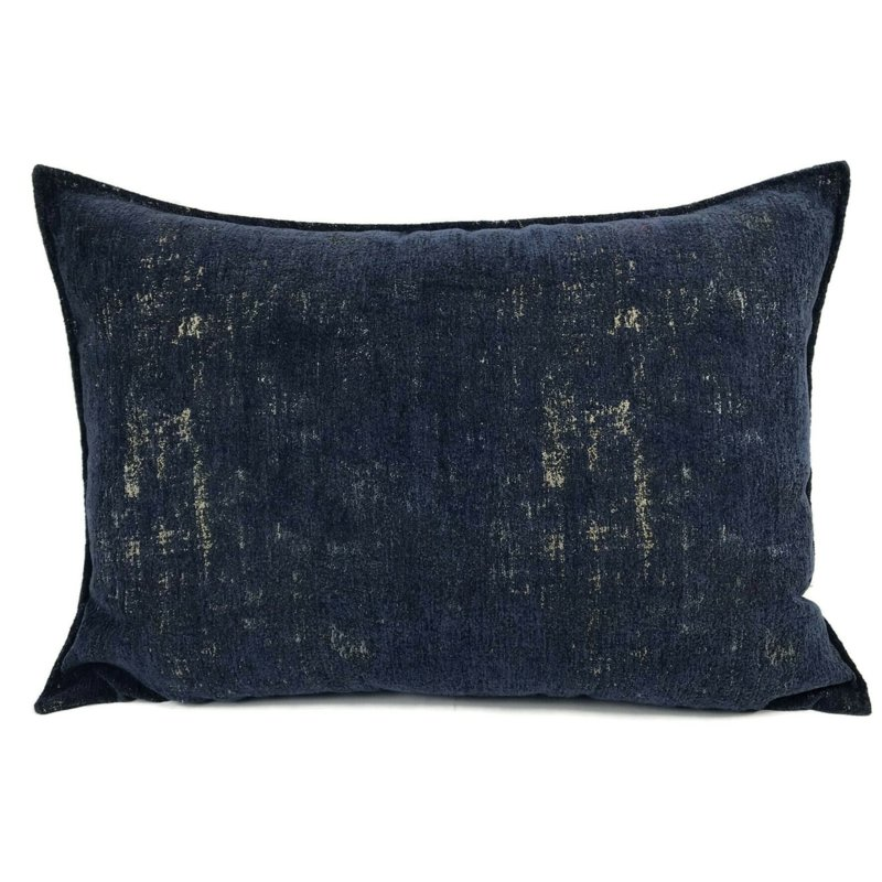 Sierkussen donkerblauw passend bij Kelim print ± 50x70cm