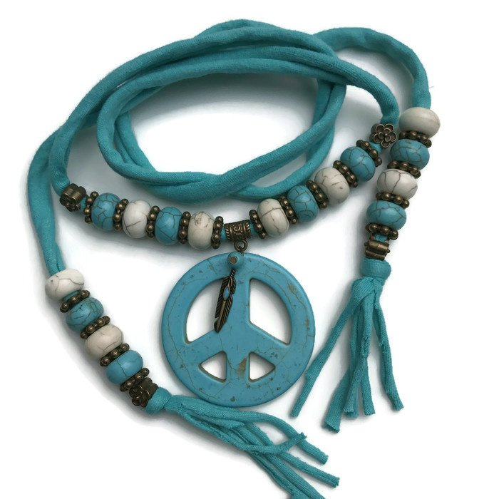 Woonketting Peace Turquoise groen