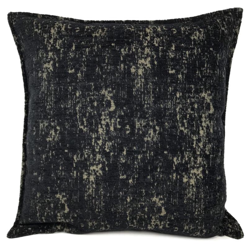 Zwart met brons kussen - Industrieel ± 70x70cm