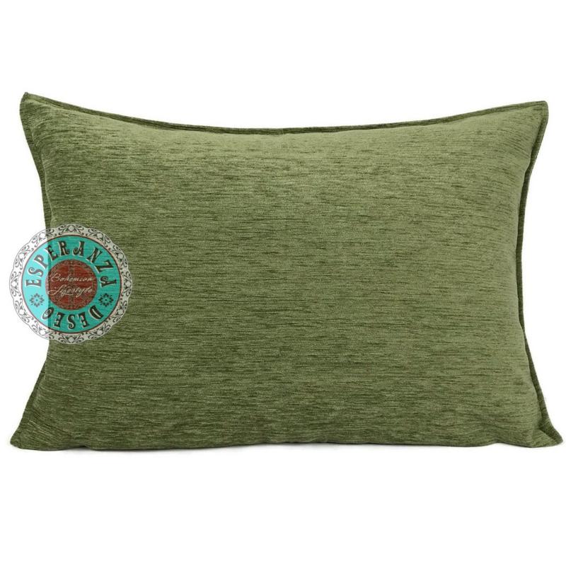 Olijf groen kussen ± 50x70cm