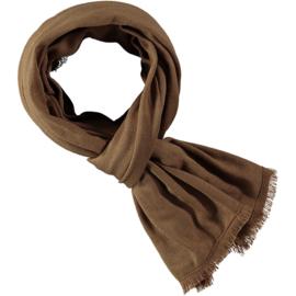 Effen sjaal camel