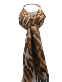 Tijger sjaal roestbruin