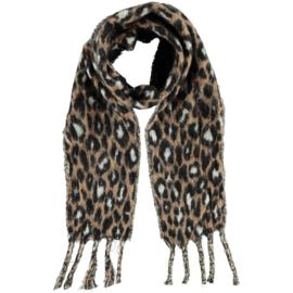Tijger sjaal camel