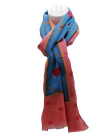 Zomer sjaal blauw