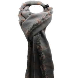 Glitter sjaal grijs