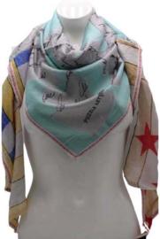 Driehoek sjaal mint- groen