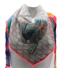 Driehoek sjaal grijs