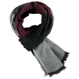 Heren sjaal bordeaux