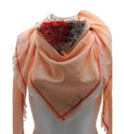 Driehoek sjaal roze