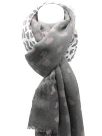 Tijger sjaal grijs