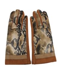 Dames handschoen bruin