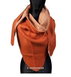 Driehoek sjaal bruin