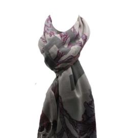 Sterren sjaal paars