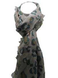 Tijger sjaal beige