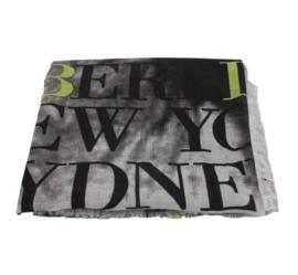 Sterren sjaal zwart