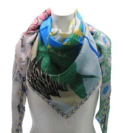 Driehoek sjaal groen