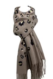 Glitter sjaal bruin
